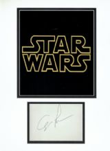 George Lucas Autograph Display - Star Wars